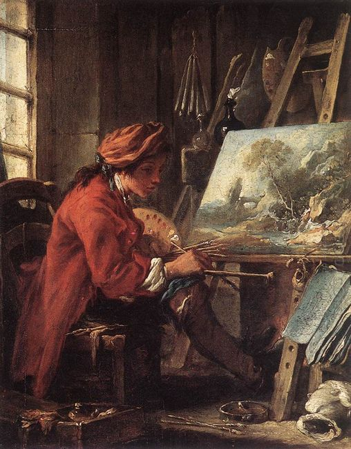 The Painter In His Studio 1735