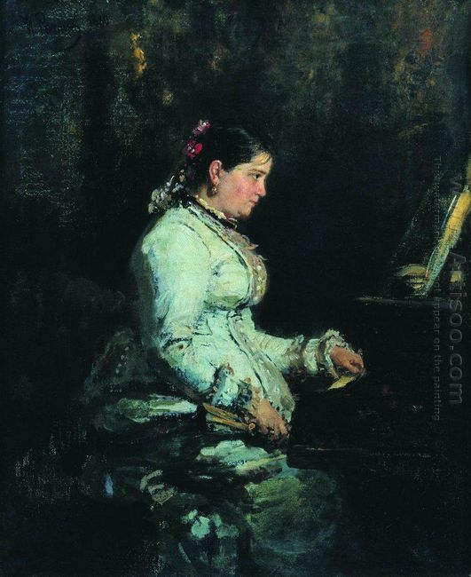 The Piano Portrait Of S V Tarnovskaya 1880