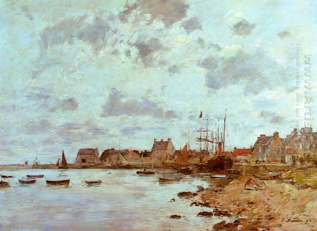 The Port At Saint Vaast La Houghe 1892