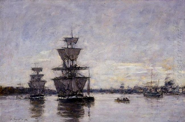 The Port Of Bordeaux 1875