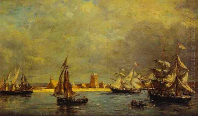 The Port Of Camaret 1872