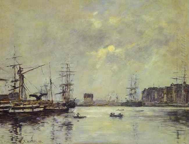 The Port Of Ke Havre Dock Of La Barre 1888