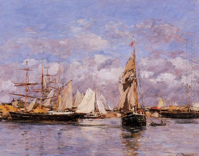 The Port Of Trouville High Tide 1880