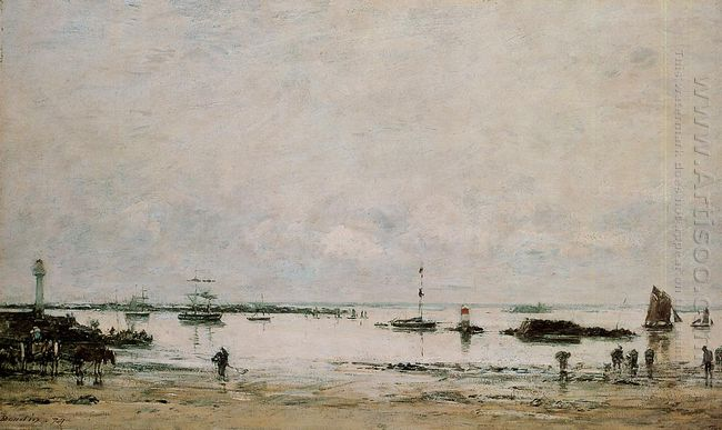 The Port Portrieux At Low Tide 1874