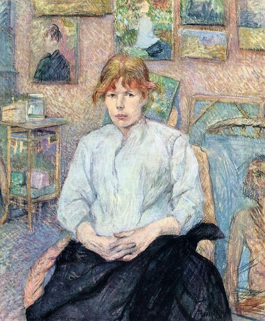 The Redhead With A White Blouse 1888