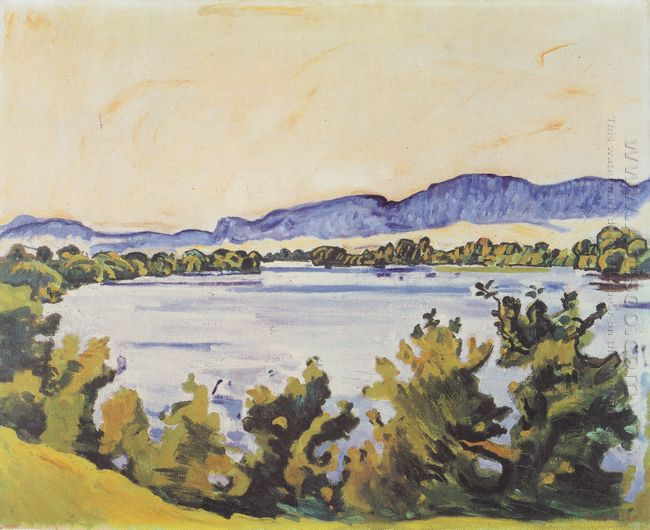 The River Aare In Solothurn 1915