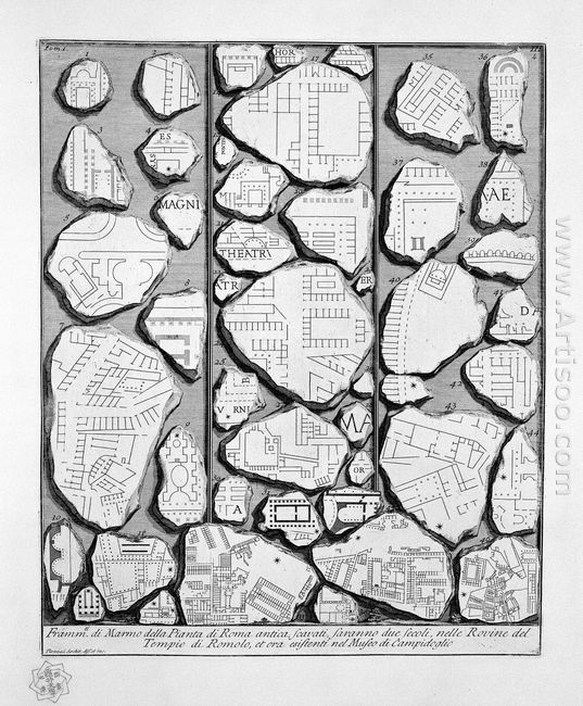 The Roman Antiquities T 1 Plate Iii Map Of Ancient Rome And Form