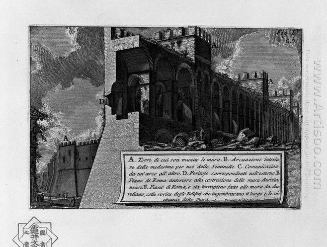 The Roman Antiquities T 1 Plate Viii Aurelian Walls 1756 1