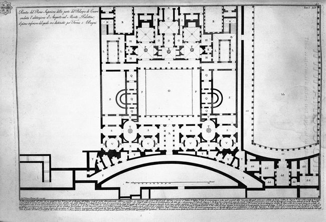 The Roman Antiquities T 1 Plate Xliv Plan Of Mount Capitoline An