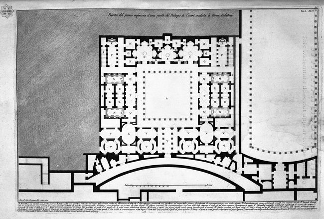 The Roman Antiquities T 1 Plate Xlv Plan Of Upper Floor Of The C