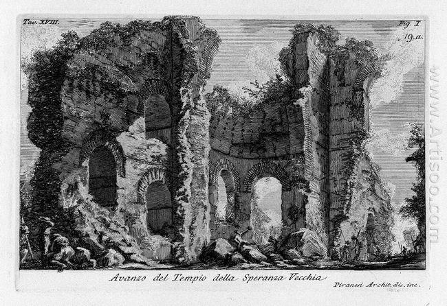 The Roman Antiquities T 1 Plate Xviii Ruins Of The Tempio Della