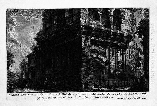 The Roman Antiquities T 1 Plate Xx Casa Dei Crescenzi 1756
