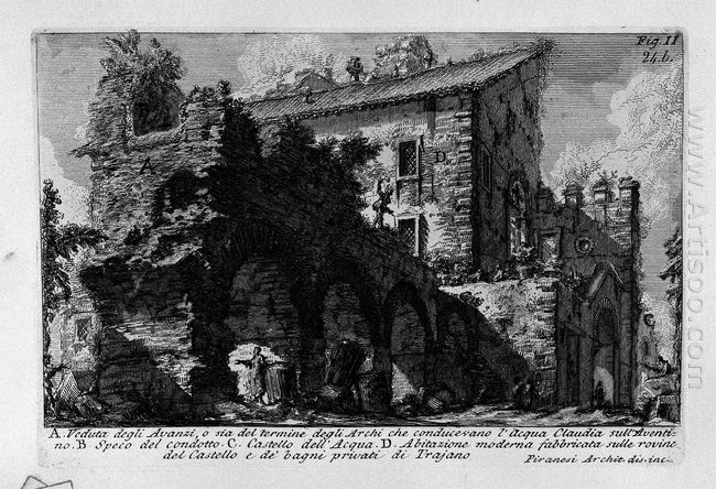 The Roman Antiquities T 1 Plate Xxiii Aventine Hill 1756 1