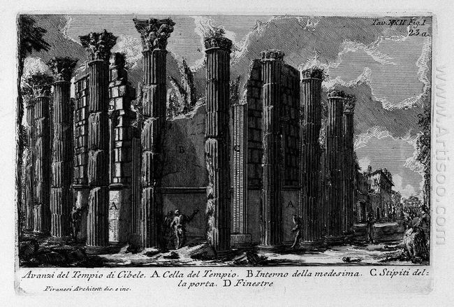 The Roman Antiquities T 1 Plate Xxii Temple Of Cybele 1756