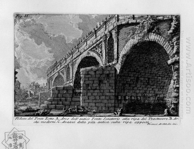 The Roman Antiquities T 1 Plate Xx Ponte Rotto 1756
