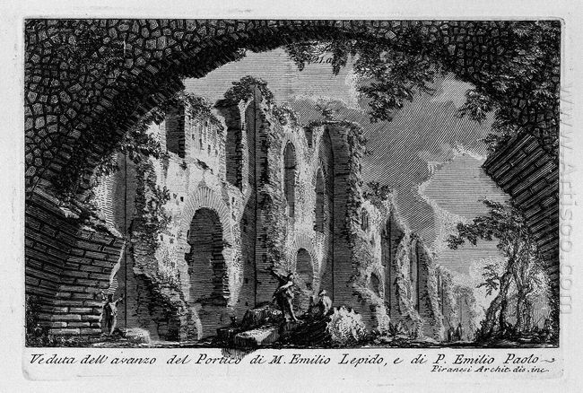 The Roman Antiquities T 1 Plate Xx Portico Of Marcus Aemilius Le