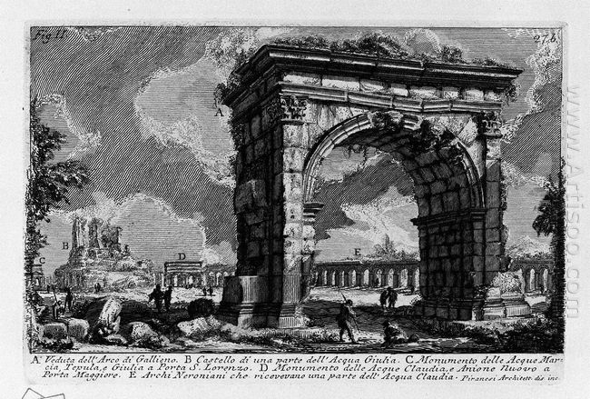 The Roman Antiquities T 1 Plate Xxvi Arch Of Gallienus 1756