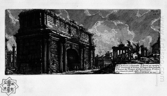 The Roman Antiquities T 1 Plate Xxxi Arch Of Septimius Severus 1