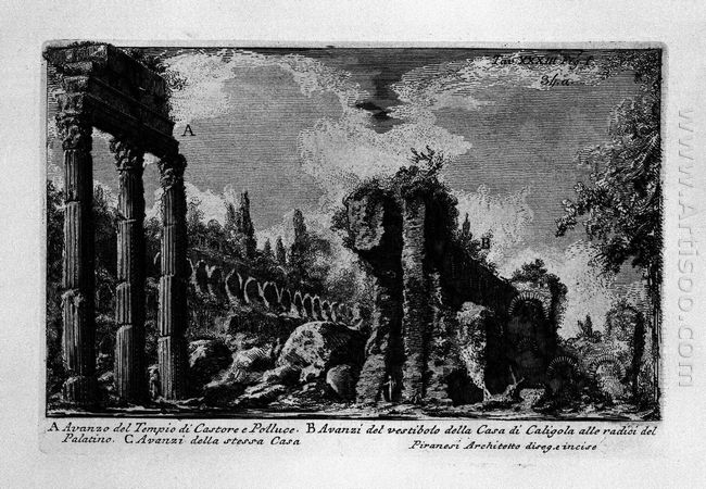 The Roman Antiquities T 1 Plate Xxxiii Ruins Of The Temple Of Ca