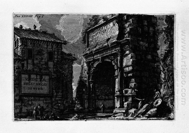 The Roman Antiquities T 1 Plate Xxxiv Veduta With Arch Of Titus