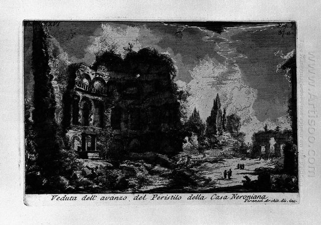 The Roman Antiquities T 1 Plate Xxxvi Veduta With Ruins Of The P
