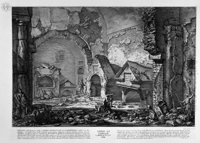 The Roman Antiquities T 2 Plate Ix Plan Of The Burial Chambers O