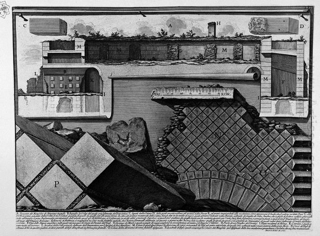 The Roman Antiquities T 2 Plate Lxii Cutaway View Of The Mausole