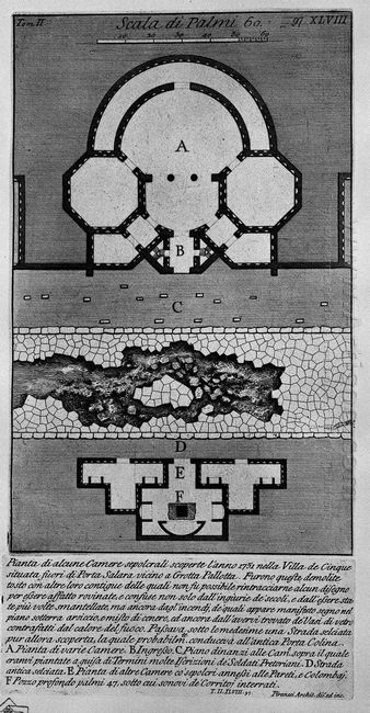 The Roman Antiquities T 2 Plate Xlviii Plan Of Some Burial Chamb