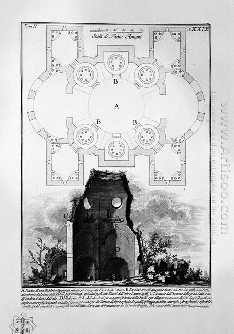 The Roman Antiquities T 2 Plate Xxix View Of The Tomb Of The Sci