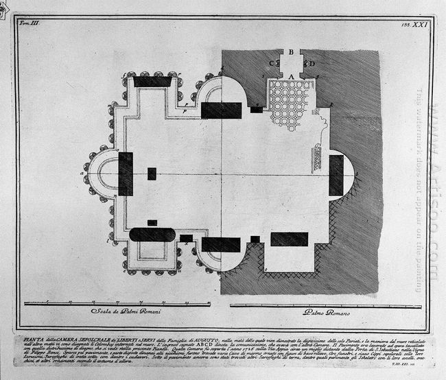 The Roman Antiquities T 3 Plate Xxi Plan Of The Burial Chambers