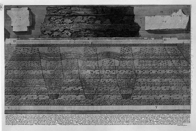 The Roman Antiquities T 4 Plate Vi Construction Details Of The M