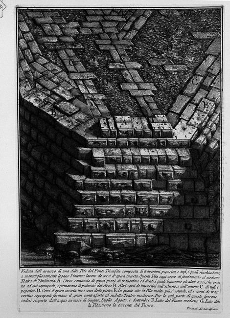 The Roman Antiquities T 4 Plate Xiv View Of Bridge St Angel From