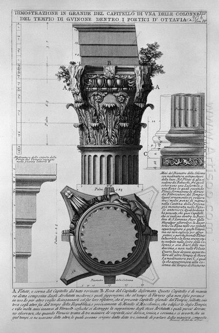 The Roman Antiquities T 4 Plate Xlv Vista Of The Great Capitals
