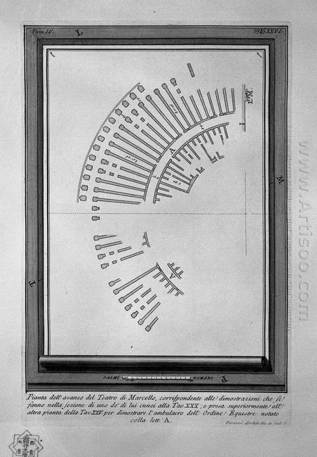 The Roman Antiquities T 4 Plate Xxv Plan Of The Theatre Of Marce