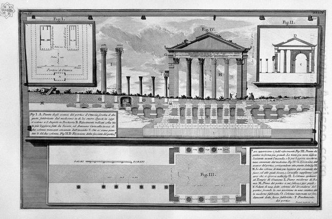 The Roman Antiquities T 4 Plate Xxxix Plans And Elevations Of Th