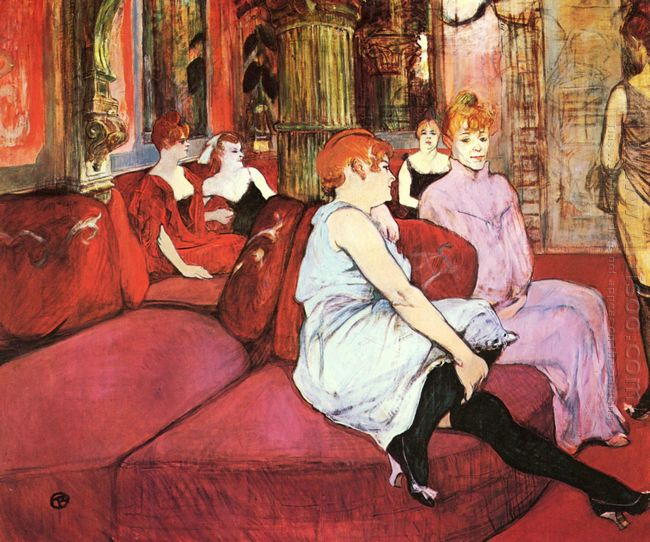 The Salon De La Rue Des Moulins 1894