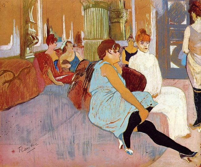 The Salon In The Rue Des Moulins 1894