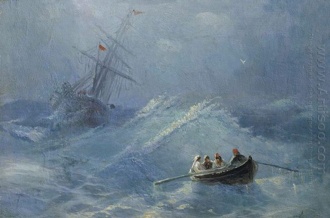 The Shipwreck In A Stormy Sea