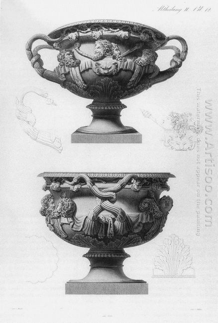 The So Called Warwick Vase An Famous Antique Marble Object Found