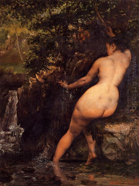 The Source Bather At The Source 1868