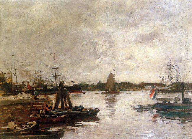 The Spanish Quay In Rotterdam Sun 1879