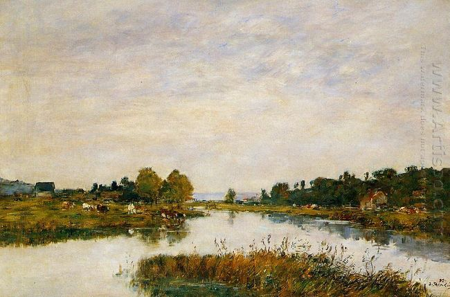 The Still River At Deauville 1895