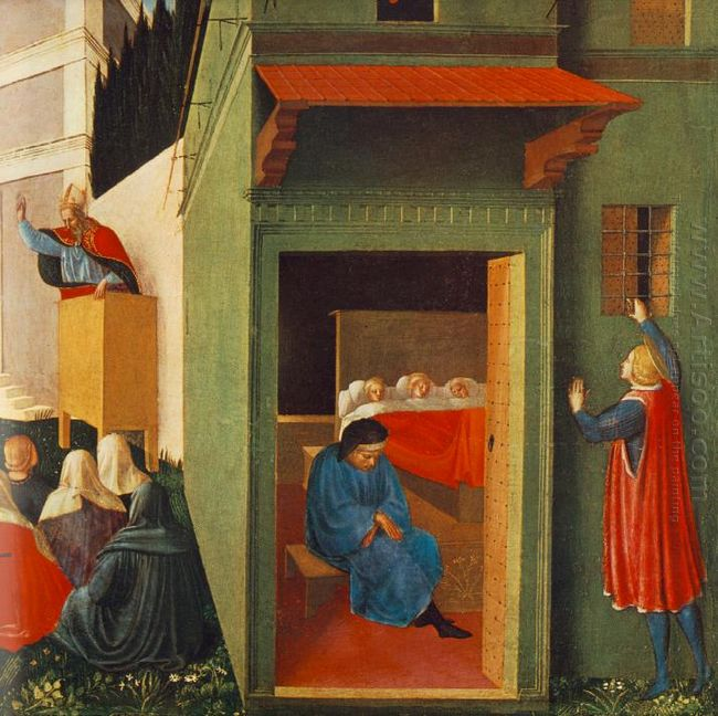 The Story Of St Nicholas Giving Dowry To Three Poor Girls 1448