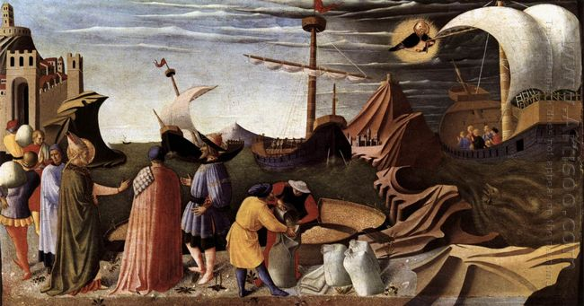 The Story Of St Nicholas St Nicholas Saves The Ship 1448