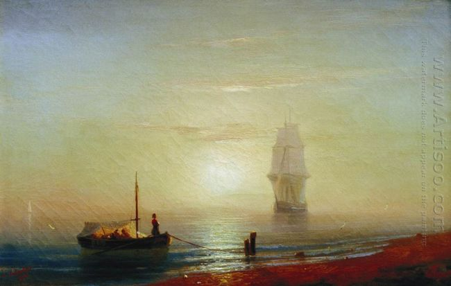 The Sunset On Sea 1848