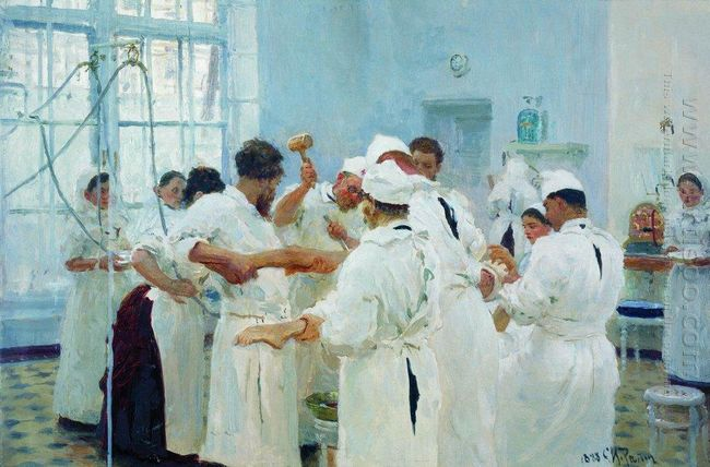 The Surgeon E Pavlov In The Operating Theater 1888