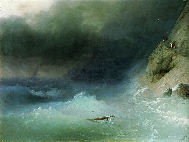 The Tempest Near Rocks 1875