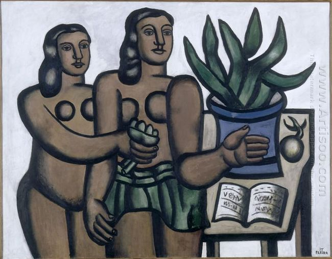 The Two Women In Blue Vase 1935