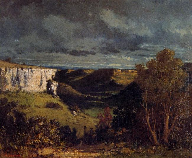 The Valley Of The Loue In Stormy Weather 1849