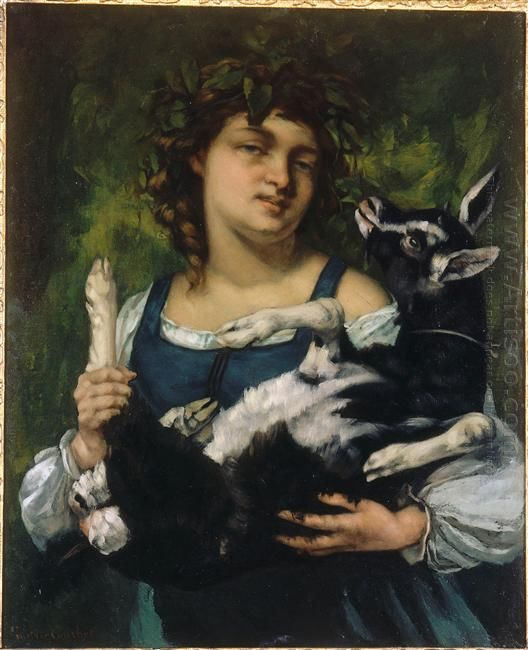 The Village Girl With A Goatling 1860